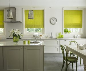 Milano Lime Roman Blinds